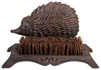 Brosse pieds décoration herisson