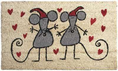Paillasson souris amoureuses