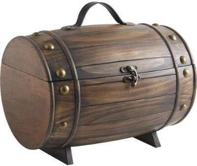 Coffret tonneau en bois