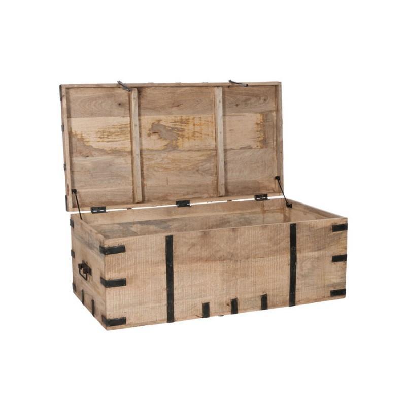 Malle vintage en bois naturel
