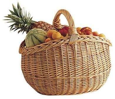 Panier à provisions en osier