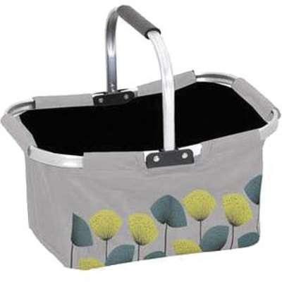 panier linge pliable fleurs roses sur fond gris clair. Black Bedroom Furniture Sets. Home Design Ideas