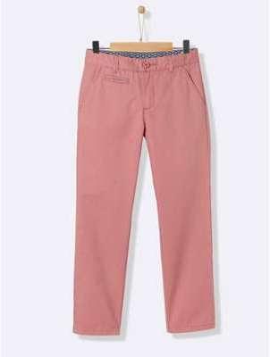 Pantalon chino garçon bois