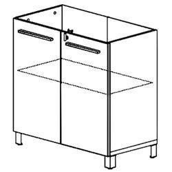 Recherche meuble verre du guide et comparateur d 39 achat for Meuble bureau office depot