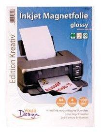 Papier A4 magnétique brillant