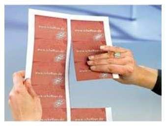 250 cartes de visites prédécoupées