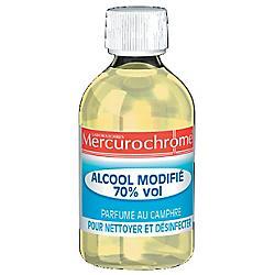 Alcool modifié 70 Mercurochrome