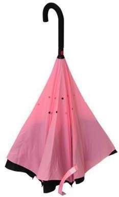 Parapluie inversé rose et