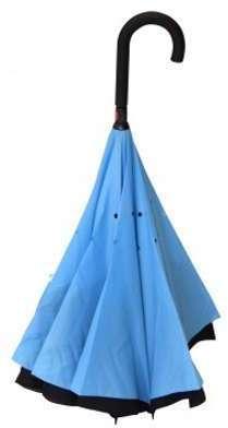 Parapluie inversé bleu et