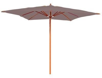 Parasol taupe en bois 300x300