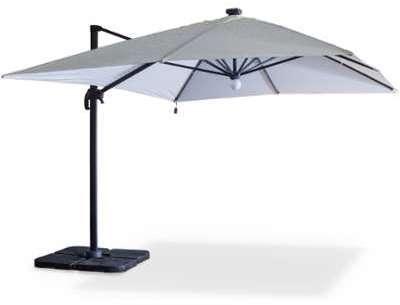 Parasol déporté solaire LED