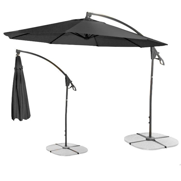 Parasol déporté noir