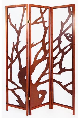 Paravent bois brun avec motif