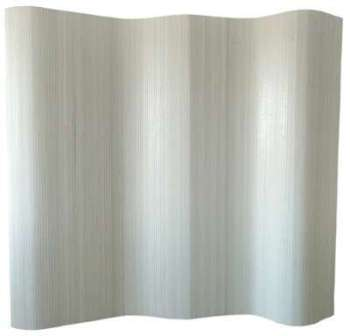 Paravent bambou blanc 200