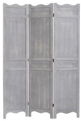 Paravent coloris gris en bois