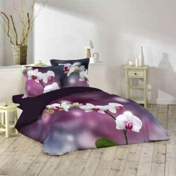 Parure de lit orchideis 260x240