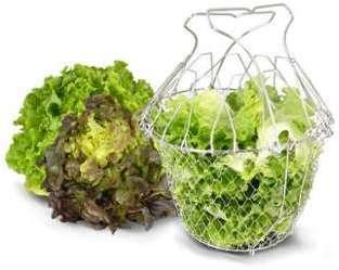 Panier à Salade Pliant Inox