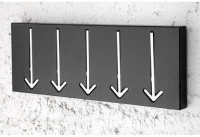 Porte manteau design en métal
