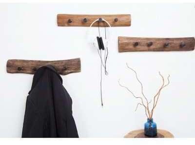Porte manteau en bois teck