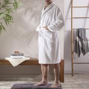 Peignoir de bain col châle