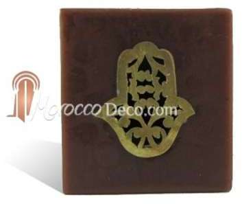 Photophore cube chocolat main