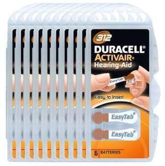 Pack 60 Piles Duracell Activair