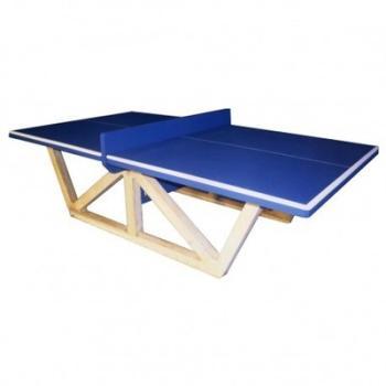 Table de ping-pong béton Bleu