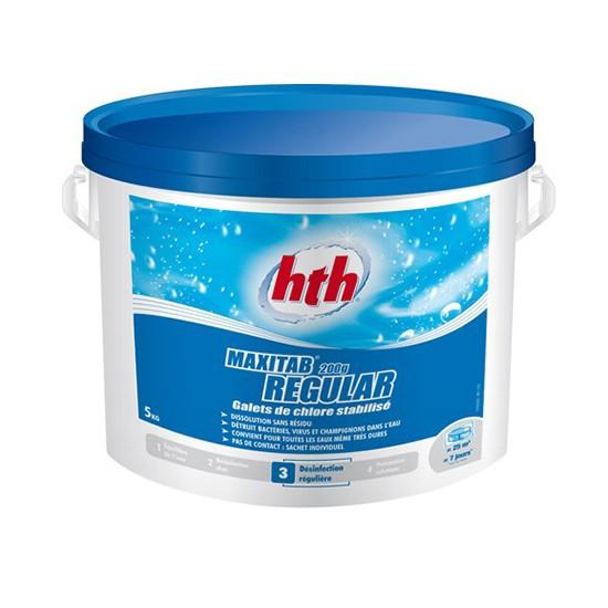 Hth brome multifonction pastille de 20g 5kg for Chlore hth piscine