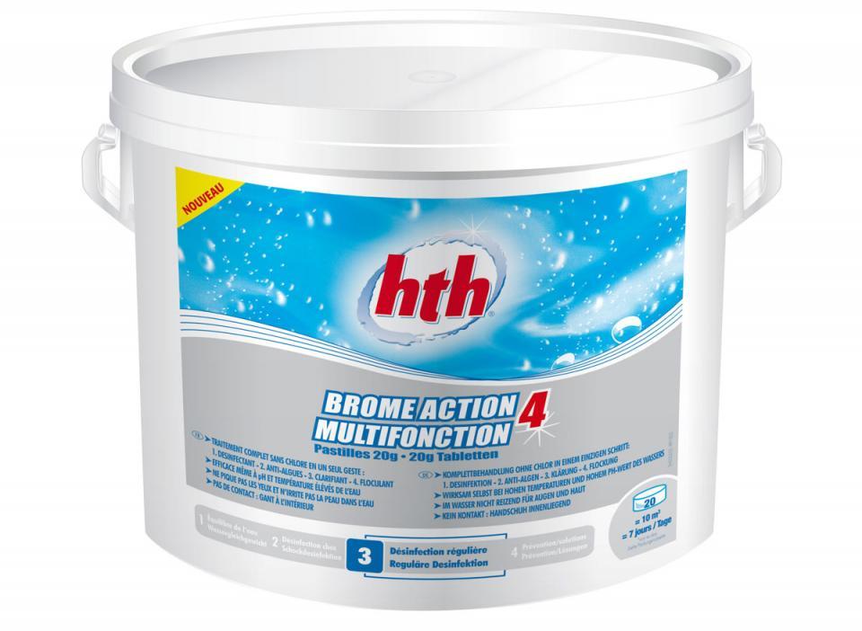 Hth brome multifonction pastille de 20g 5kg for Brome pour piscine