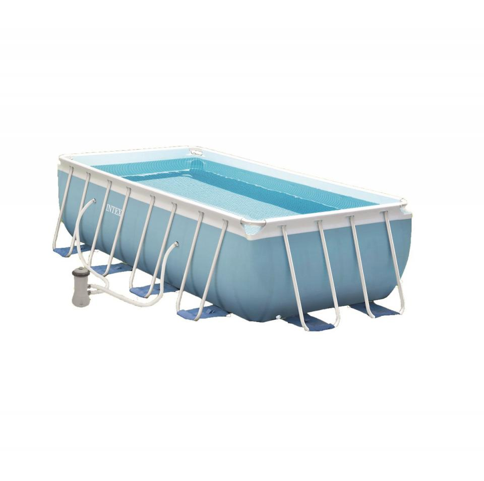 Bestway piscine tubulaire 4m12x2m01x1m22 for Auchan piscine tubulaire
