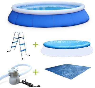 Intex gonflable bleu cristal for Auchan piscine gonflable