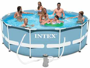 Intex kit piscine ellipse ovale for Piscine carree intex
