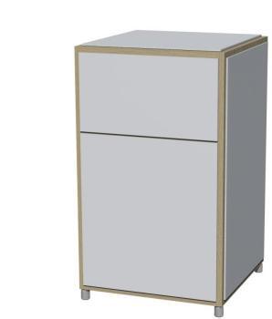 ADD H3 - Cabinet - blanc mélamine
