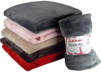 Plaid Polaire Microfibre Uni