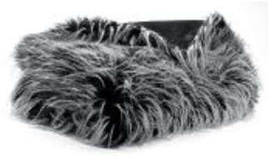 Plaid imitation fourrure Feather