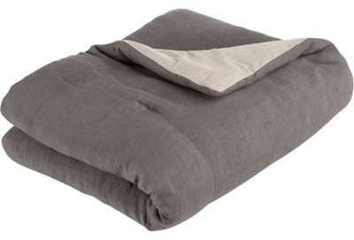 Edredon en lin et coton gris