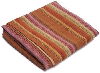 Plaid coton tissé rayures