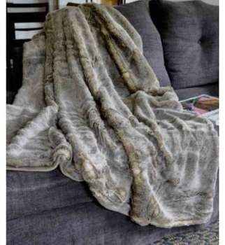 Plaid Fausse Fourrure Marmotte