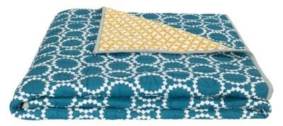 Agadir couvre-lit bleu canard