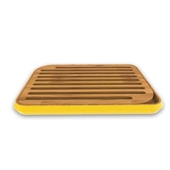 Planche à pain jaune en bambou