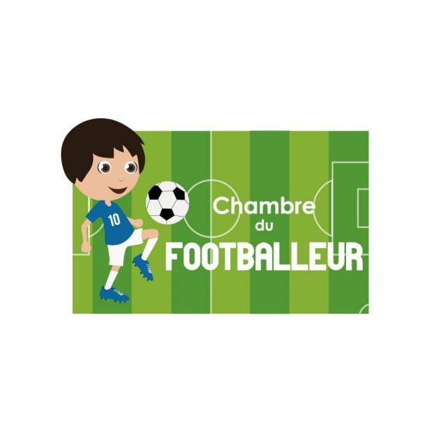 Plaque de porte Footballeur