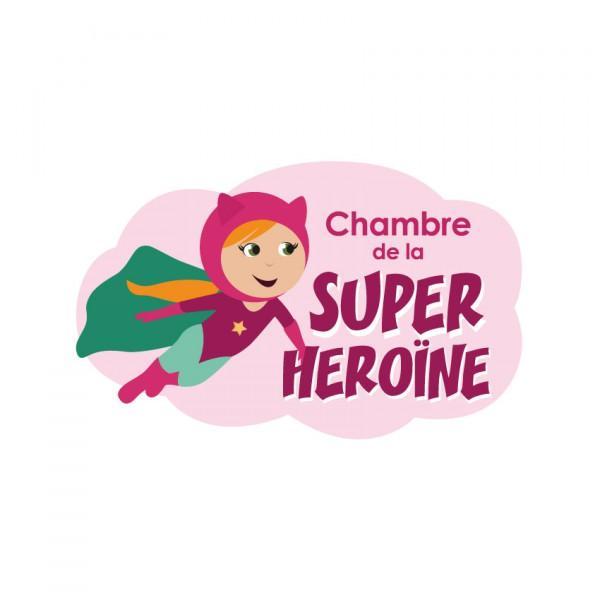 Plaque de porte Super Héroïne