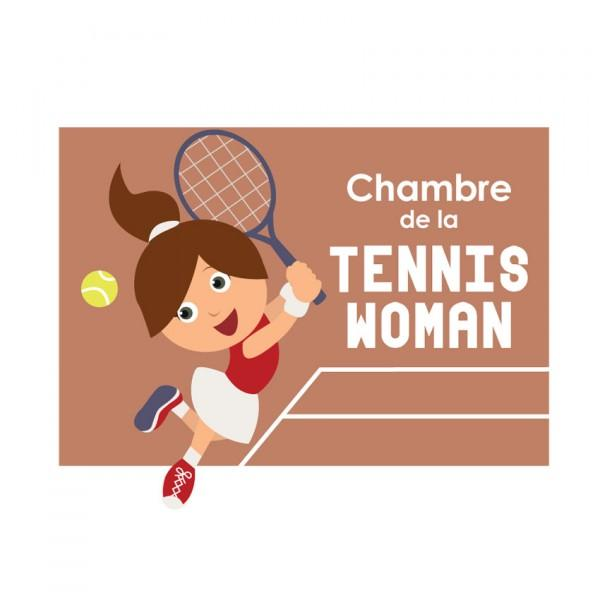Plaque de porte Tenniswoman