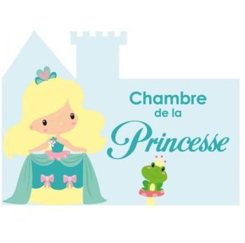 Plaque de porte petite princesse