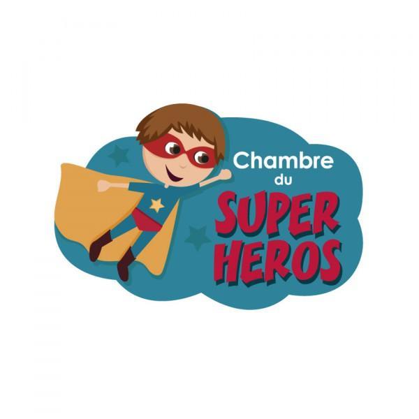 Plaque de porte Super Héros