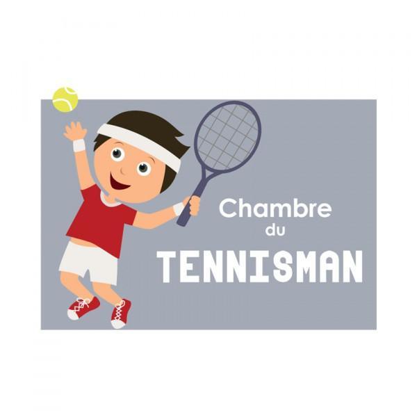 Plaque de porte Tennisman