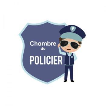 Plaque de porte Policier