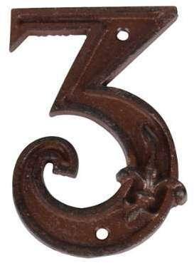 Numéro de maison en Fonte