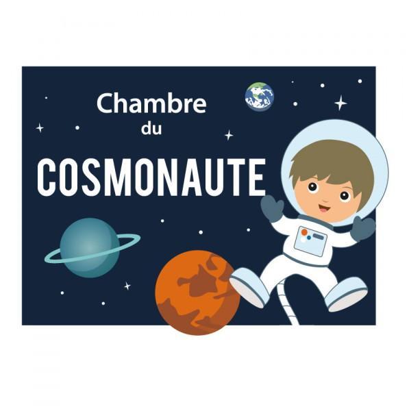 Plaque de Porte Cosmonaute