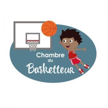 Plaque de porte Basketteur